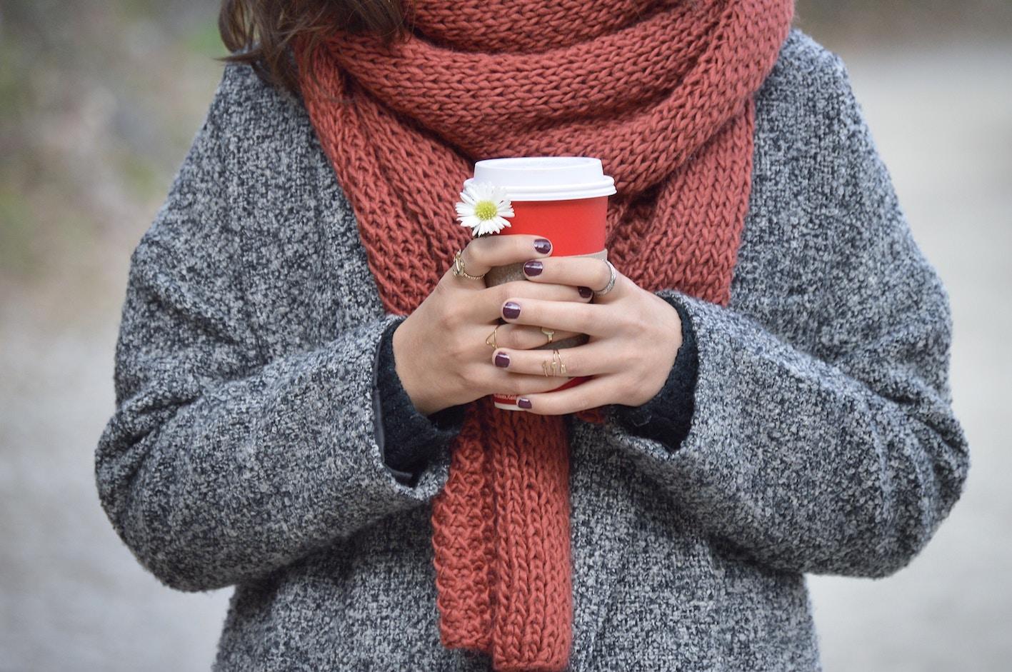 Varma halsdukar för vinterväder